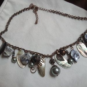 Lia Sophia Copper Mother of Pearl Necklace